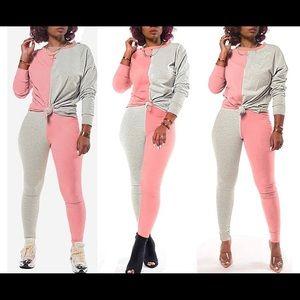 Short Sets Women 2 Piece Outfits, Color Block Sho